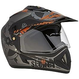 Vega Off Road D/V Secret Dull Anthracite Black Helmet-L