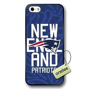 NFL New England Patriots Team Logo iphone 4 4s Black Rubber(TPU) Soft Case Cover - Black