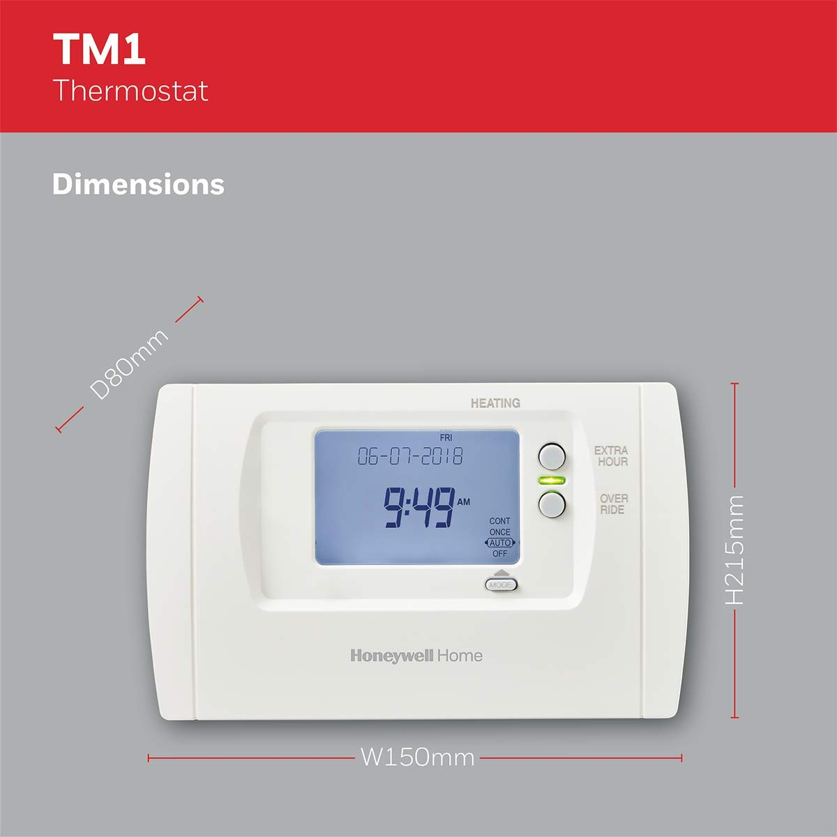 Temporizador digital color blanco Honeywell Home THR850SWE TM1