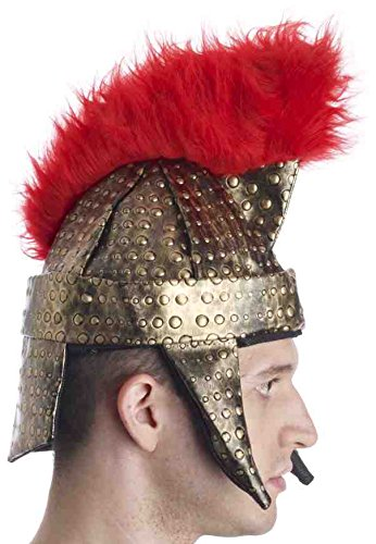 Forum Novelties Roman Gladiator Warrior Gold Red Costume Helmet]()