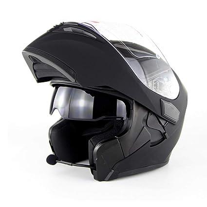 Motocicleta Bluetooth Casco D. O. T Certificación-Full Face Bluetooth Racing Casco De Moto Cromwell Casco