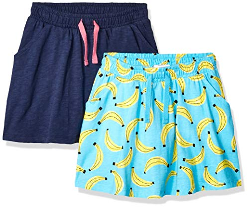 Amazon Brand - Spotted Zebra Girls' Toddler & Kid 2-Pack Knit Twirl Scooter Skirts