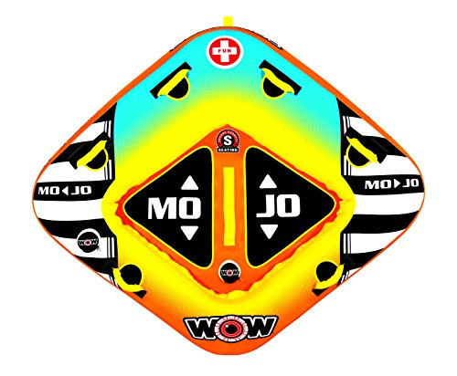 WOW World of Watersports, 16-1060, Mojo 1 or 2 Person Towable Tube, Front and Back Tow Points by WOW Sports