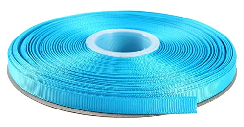 Duoqu 1/2 Inch Wide Grosgrain Ribbon 50 Yards Roll Multiple Colors (Island Blue)