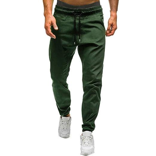 843f8de69cfbac Men Jogger Pants Summer Solid Color Sweatpant Casual Elastic Waist  Drawstring Pajamas Pants Fitness Training Pants