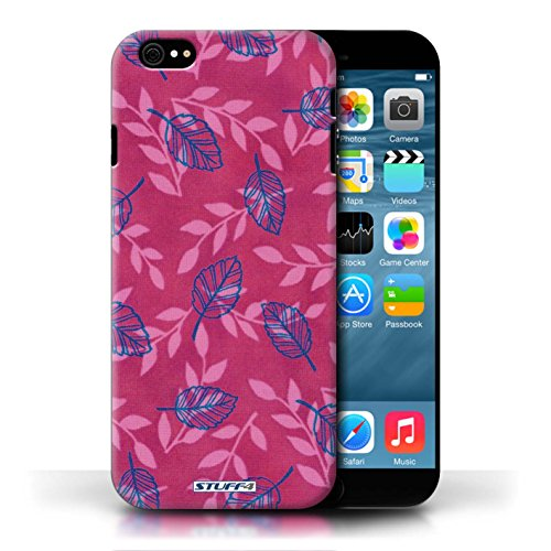 Etui / Coque pour Apple iPhone 6/6S / Rose/Bleu conception / Collection de Motif Feuille/Branche