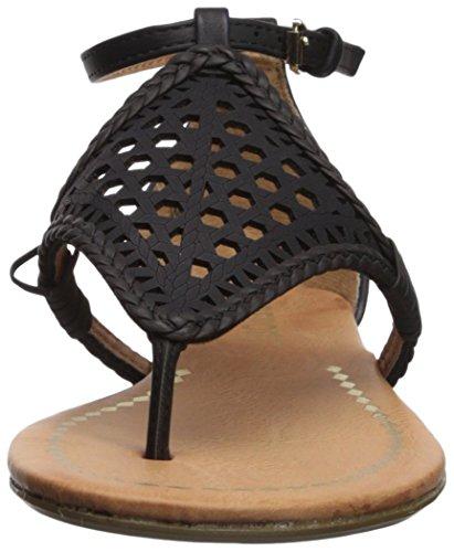 de mujer plana Lindi Informe la Negro sandalia AOWgnqA06x