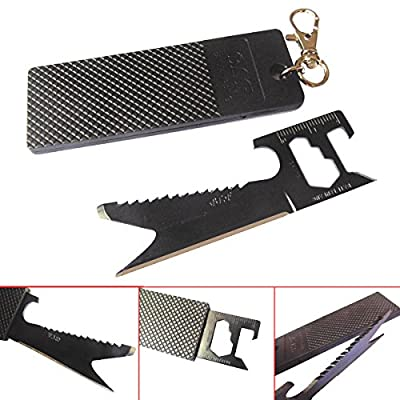 New Hot 7 in 1 Multi-purpose Portable Keychain Pocket Folding Card Knife Outdoor Survival Tools for Tent Camping Hiking Backpacking Outdoor Activity by Wild Tribe