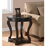 Cheap Add functional elegance to your home décor with this wood espresso end table. This cocktail table features a tempered glass top, a bottom shelf for storage, and non-mar foot glides. Fits easily in the Foyer, office Living room, or Entryway.