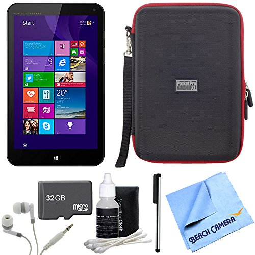 Stream 8 32GB Windows 8.1 LTE Tablet 32GB Bundle includes 32GB memory card, headphones, stylus pen with pocket clip, cleaning kit, hardshell case and micro fiber cloth