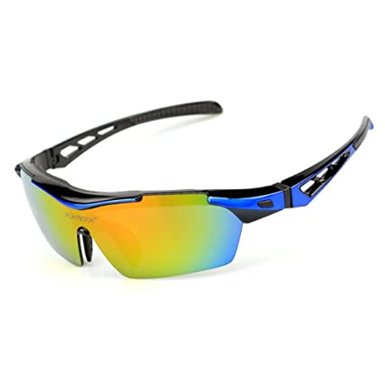 2a036ab3db CDSS Cycling glasses UV 400 protection Sports sunglasses Anti-fog Run HD  Eye protection Sports Glasses Equipped with 5 interchangeable lenses For  MTB ...