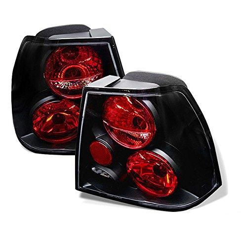 (VIPMOTOZ Altezza Euro Style Tail Light Lamp For 1999-2005 Volkswagen Jetta Sedan - Black Housing, Driver and Passenger Side)