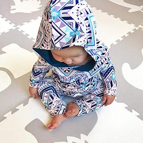 Ragazzi Bel 24 delle Stampa Moda Combinazione cappuccio Abiti Comodo Abbigliamento mesi 6 Multicolor Vestiti con Combinazioni Manica per geometrica New bambini Ragazzi ragazze Adeshop Lunghe nv4PXqxUU