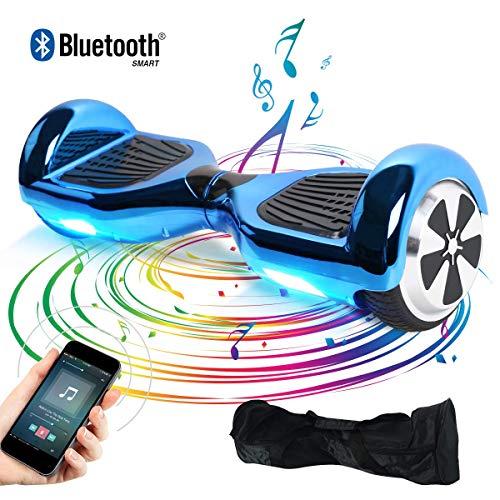 TOEU Hoverboard Scooter eléctrico Ruedas de 6.5″, Leds, Potente batería de Litio, Self Balancing, monopatín eléctrico Auto-Equilibrio