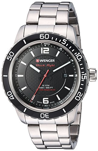 Wenger Men's 'Roadster' Swiss Quartz Stainless Steel Casual Watch, Color:Silver-Toned (Model: 01.0851.122)