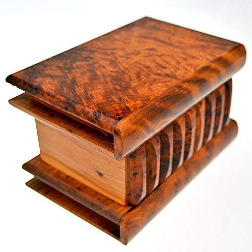 Legno Thuya marocchina di grandi dimensioni scatola magica L15 W10 H8 Cm