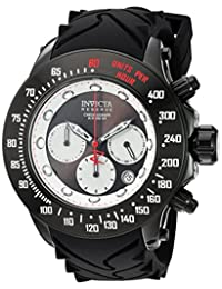 Invicta Men's 'Reserve' Swiss Quartz Stainless Steel and Silicone Casual Watch, Color:Black (Model: 22138)