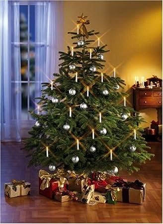Qvc Weihnachtsbeleuchtung Kabellos.Tv Das Original Kerzenzauber Weihnachtsbeleuchtung Kabellos Indoor Silber 10 Kerzen
