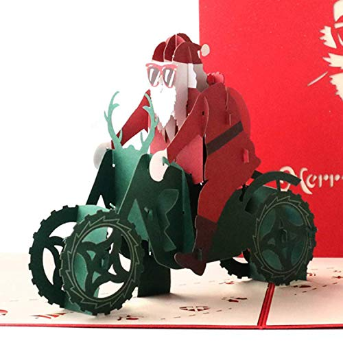 Paper Spiritz Pop Up Card Christmas, Christmas Santa Claus, 3D Pop Up Card Holiday, Winter Greeting Card, Happy New Year Merry Christmas Gift Card (Merry Christmas And Happy New Year Greeting Card)