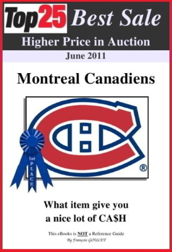 Top25 Best Sale Higher Price in Auction - MONTREAL CANADIENS