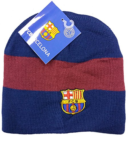 Offiziell lizensierte ORIGINAL FC Barcelona Beanie Mütze one Size lizensierter FC Barcelona Fanartikel