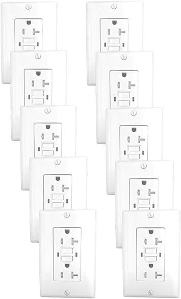 20 amp outlet diagram 20 amp gfci receptacle outlet w led   wallplate ul2015  pack of 10  20 amp gfci receptacle outlet w led