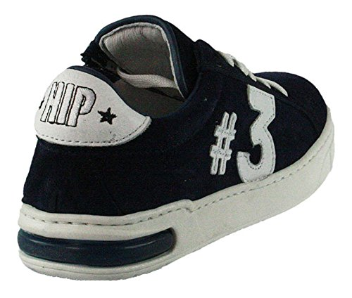 HIP | Jungen Sneaker | #3 - blau | donker blauw, Farbe:blau;Größe:34