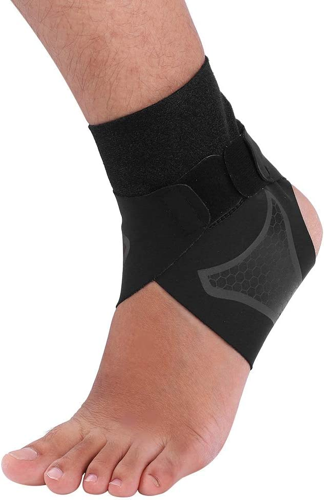 Ultra-Thin Breathable Stabilizer Strap Ankle Wrap Black Ankle Protector for Heel Pain Relief Sports Fitness Riding for Men Women Ankle Support Brace
