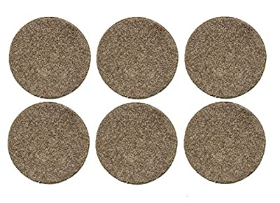 "Economy Set of 6 CHILDREN'S CRAZY CARPET CIRCLE SEATS - 25 Oz. Taffy Apple Beige -18"" Round Rug Mats"