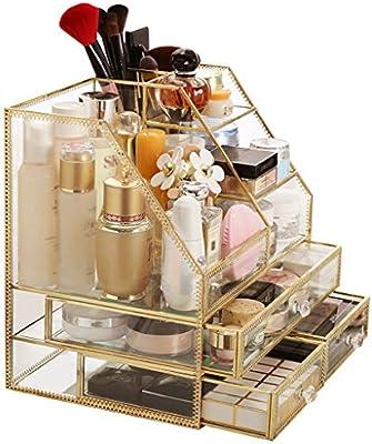 Organizador Maquillaje LINGZHIGAN Caja de Almacenamiento de ...