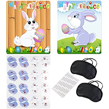 Amazon.com: PIN the TAIL on the EASTER BUNNY/Spring PARTY GAME ...