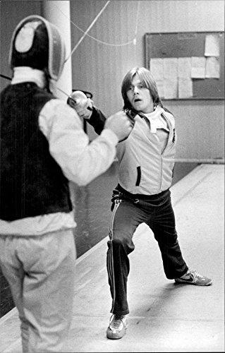 Vintage photo of Kenneth T228;ckstr246;m fights against his Polish coach Kristia Witwicki in197;keshovshallen.