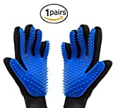 MissHeart Pet Grooming Glove, 1 Pair Gentle Deshedding Efficient Pet Hair Remover Brush, Massage Tool with Enhanced Five Finger Design, Perfect for Dog & Cat with Long or Short Fur