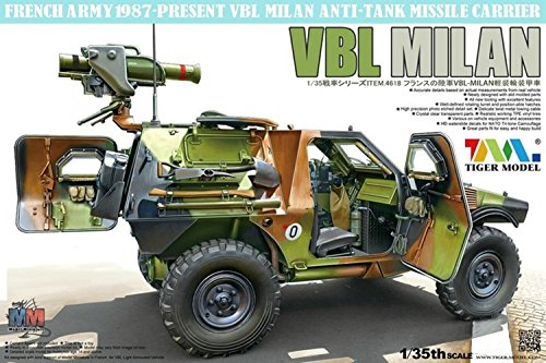 Tank Missile Anti - Tiger Model 1:35 French VBL with Milan Anti-Tank Missile Launcher #4618