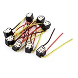 8 Pcs H4 Ceramic Wire Socket for Car Foglights