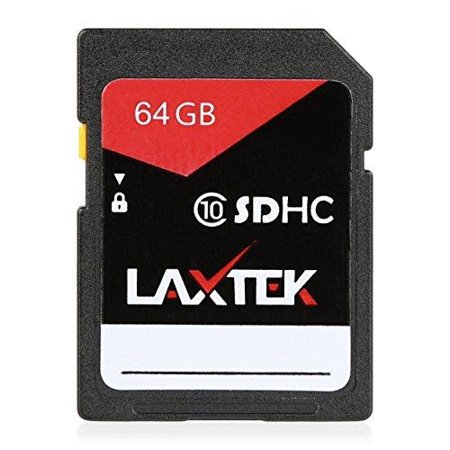 LAXTEK 64GB Ultra Class 10 U1 SDHC UHS-I Ultra HD 4K Video High Performance SD Card by LAXTEK