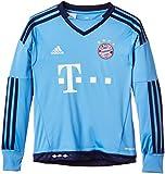 adidas Jungen Fußballtrikot FC Bayern München Replica Heim Torwart, Lucky Blue/Blue, 164, S08658