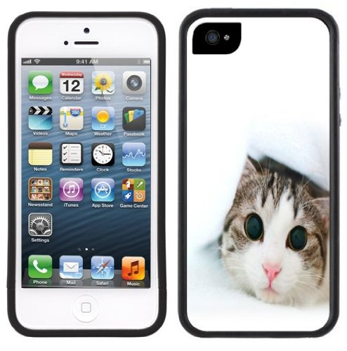 Cute Kitty | Handgefertigt | iPhone 5 5s | Schwarze Hülle