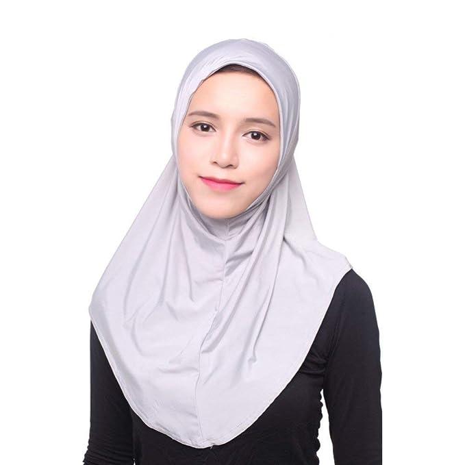 Señoras Turbante Sombrero Musulmán Hijab Cabo Islámico Hombros Sombrero Pañuelo Cubierta Color Acogedor Sólido Estilo Clásico