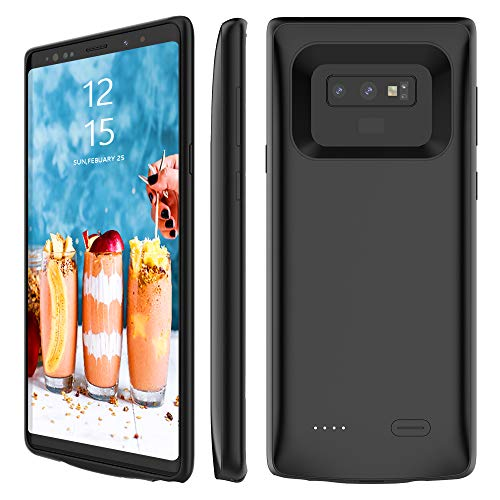 Galaxy Note 9 Battery Case, Stoon 5000mAh Portable Charger Case Rechargeable Extended Battery Pack Protective Backup Charging Case Cover for Samsung Galaxy Note 9(6.4 Inch) (black) by Stoon