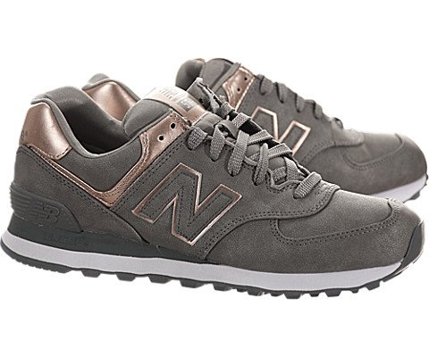 new balance precious metals 574 charcoal rose gold running motors usa. Black Bedroom Furniture Sets. Home Design Ideas
