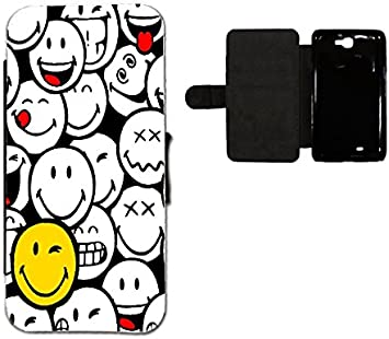 Aux Prix Canons Etui Housse Portefeuille Humour Smiley Emoticone Samsung Galaxy Note 2 Amazon Fr High Tech