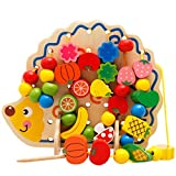 Hedgehog Threading Lacing Beads Fine Motor Skills Game Wooden Toy