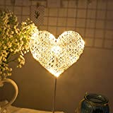 LED Night Light Table Lamp Heart Star Shaped Decorative Light Night Light Atmosphere Light Sweet Nursery Room Decorations Idea Desk Lamp Valentine Gift for Saint-Vale