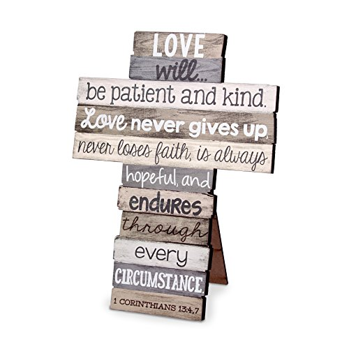 Love Wall Design - Lighthouse Christian Products Small Love Stacked Wood Wall/Desktop Cross