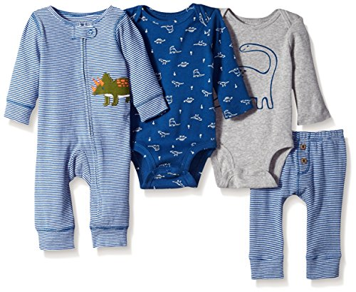 Carter's Baby Boys' 4-Piece Gift Set, Blue Dino, 9 Months