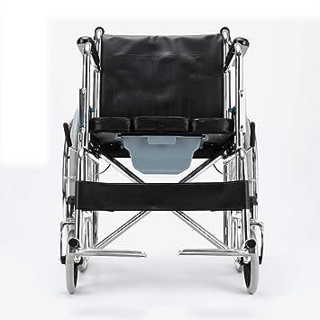 Shisky Silla de Ruedas Manual con Asiento Plegable Plegable discapacitados Ancianos Ligero de la Mano Empujar sillas de Ruedas Coche Entrega Junta: ...