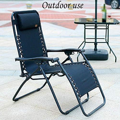 ZZX Chaise Pliante Transat Jardin Chaise Longue Chaises Pliantes - Maison étudiant Noir Un Petit Fauteuil Chaise Pliante Chaise des chaises Longues de Bureau chaises Longues