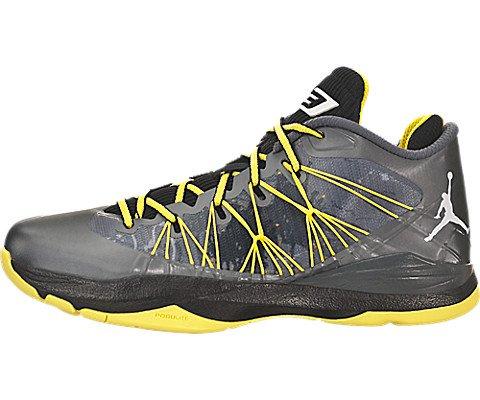 Jordan 11.5 Men Shoes (Nike Jordan Men's Jordan CP3.VII AE Dark Grey/White/Blk/Vbrnt Yllw Basketball Shoe 11.5 Men US)