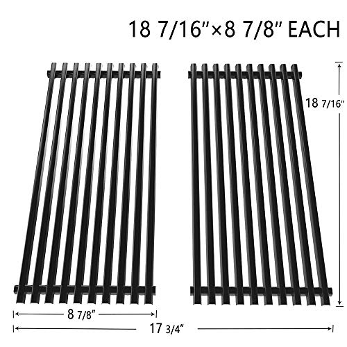 SHINESTAR Grill Grates 18 7/16inch for Charbroil Tru Infrared Grill Replacement Parts 463241013 for Char-Broil 2 Burner Grill Prior to 2015, Porcelain Enameled Steel BBQ Cooking Grid, 2 Pack